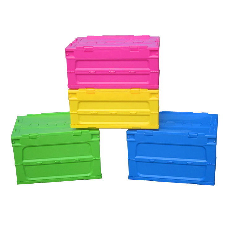 HOME use Plastic PP Crate storage box with Foldable lids