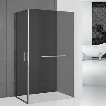 Corner bathroom made in china square pivot doors glass shower