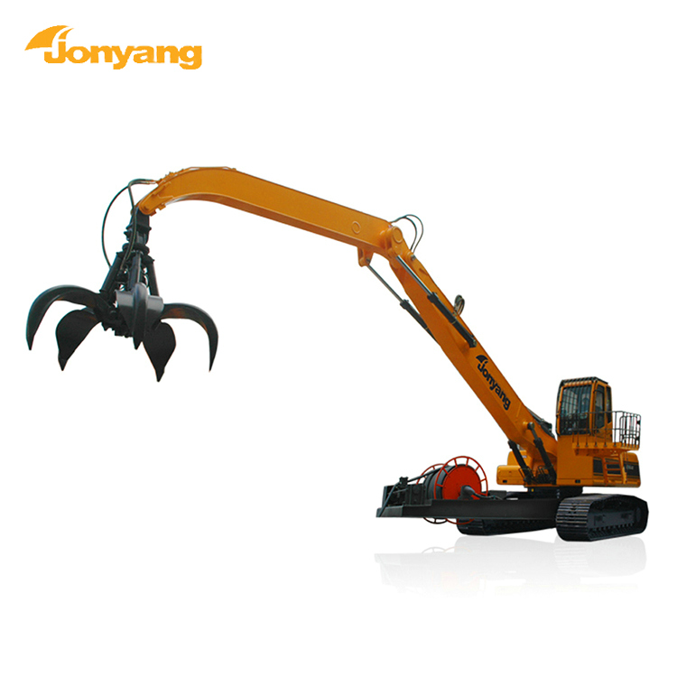 Electric scrap excavator material handling equipment
