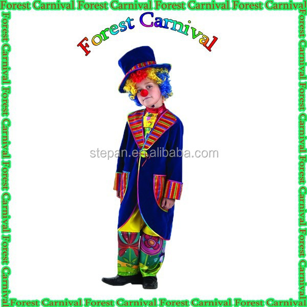 927 Fanny Clown Costume With Hat For Kids