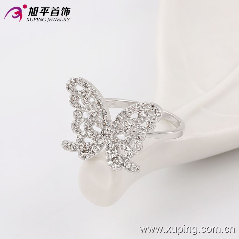 13665-personalized jewelry silver color ring 925 sterling butterfly rings
