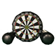Exciting Inflatable Soccer Darts Board Inflatable Game with 5pcs Inflatable Balls for Sport Game