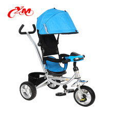 3 wheels tricycle for toddlers / children tricycle with trailer / factory produce kids metal tricycle