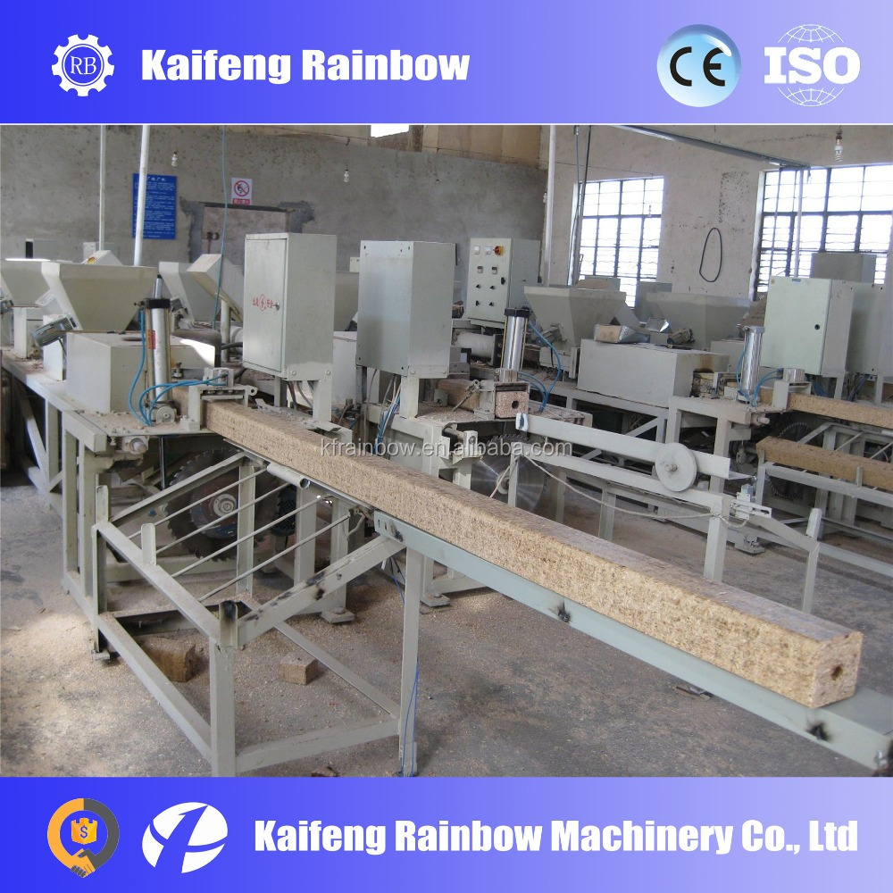 Automatic Electrical wood block making machine wood pallet block production line