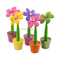 All kinds of Flower Styles Plastic Desk Stand Pen for Promotional Gifts
