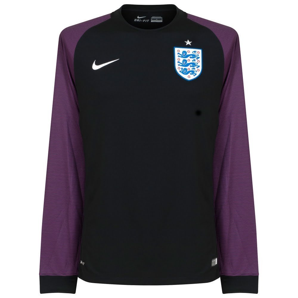 d2aa75ee875 Get Quotations · 2016-2017 England Home Nike Goalkeeper Shirt (Black)