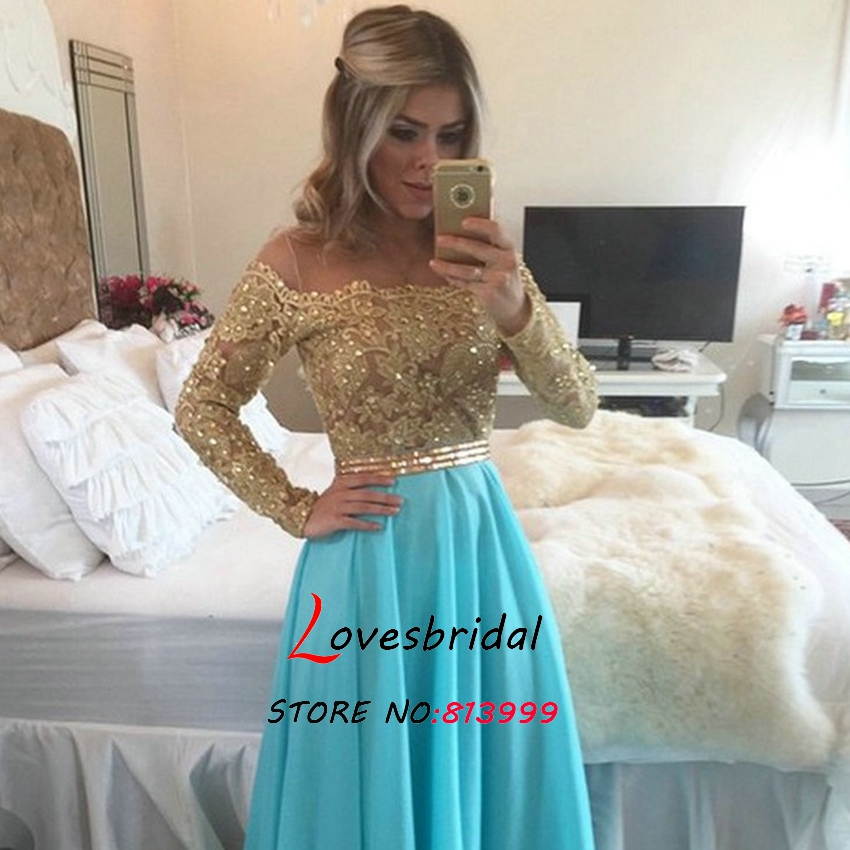 aa40a587b Vestidos de noche manga larga 2016 - Vestidos mujer
