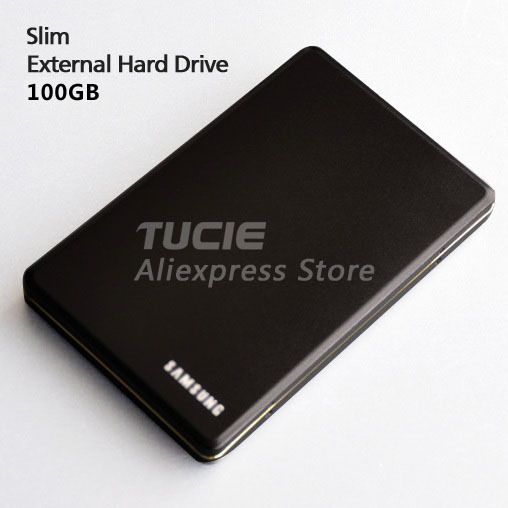 Free Shipping Slim Aluminum design HDD 2 5 External Hard Drive 100G Desktop and Laptop Portable