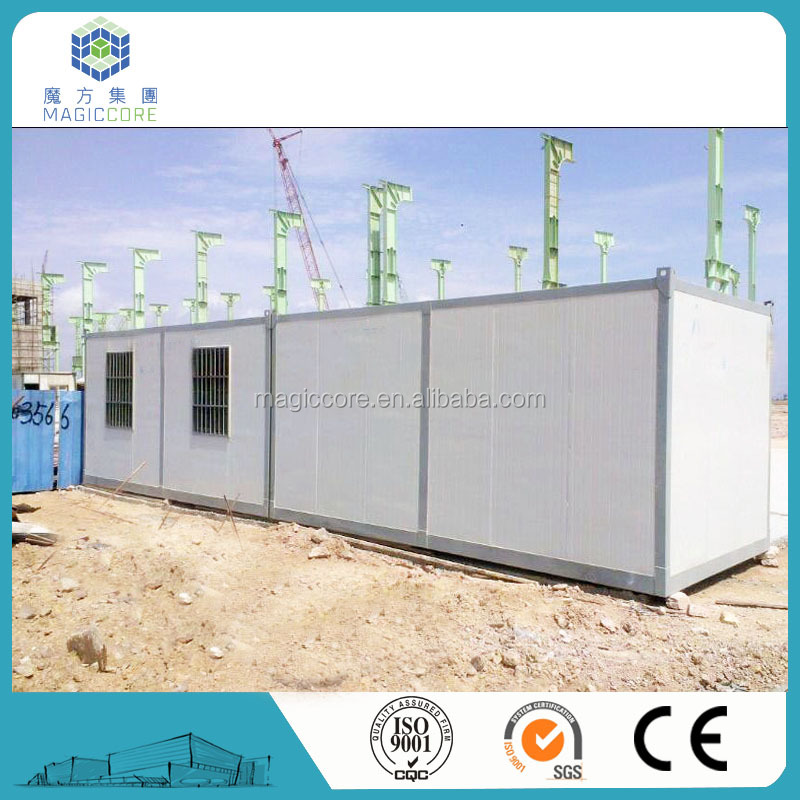 Oil/Gas/Mining camp steel structure fast construction site office prefab container house