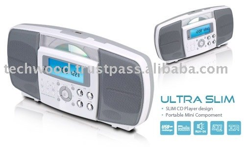 CD955 Ultra Slim vertical CD Player with AM/FM Radio, Alarm Clock and USB Cd955 Vertical Cd With Am/fm Radio,Alarm