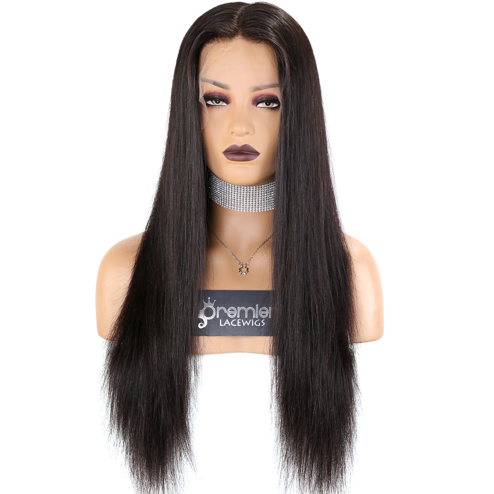 Alibaba.com / Premier Transparent HD Lace Cuticle Aligned Hair Lace Front Wig With Pre Plucked Hairline