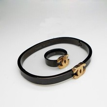 luxury atmosphere small fragrant black titanium steel rose gold ring for women index finger tail refer