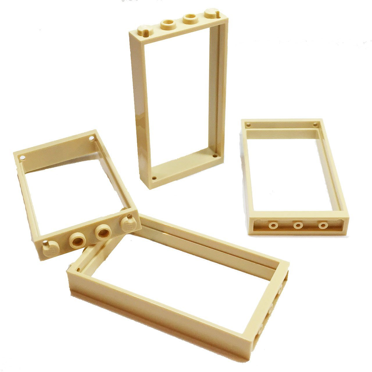 Lego Parts: Door Frame 1 x 4 x 6 - Type 2 (Service Pack of 4 - Tan)