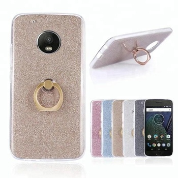 super popular 9d59a a3d44 Soft Tpu Ring Holder Back Cover Shiny Covers Cases Glitter Phone Case For  Moto Z E4 G4 G5 Plus Mobile Phone Accessories - Buy Phone Case For Moto G4  ...
