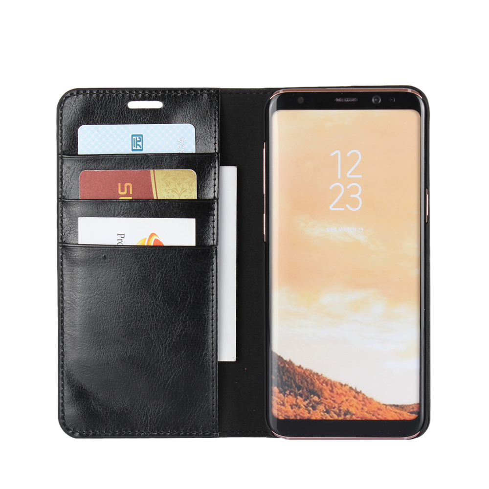 Flip cover leather case for Samsung Galaxy S8 case with credit card holder фото