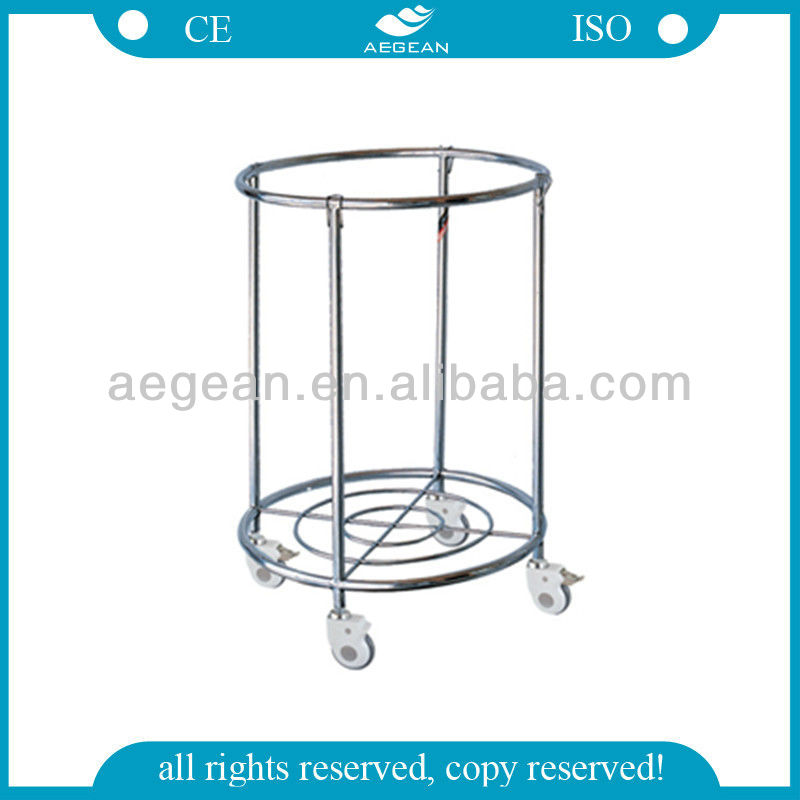 AG-SS081 Hot sales!!! Stainless Steel Trolley for dirty clothes