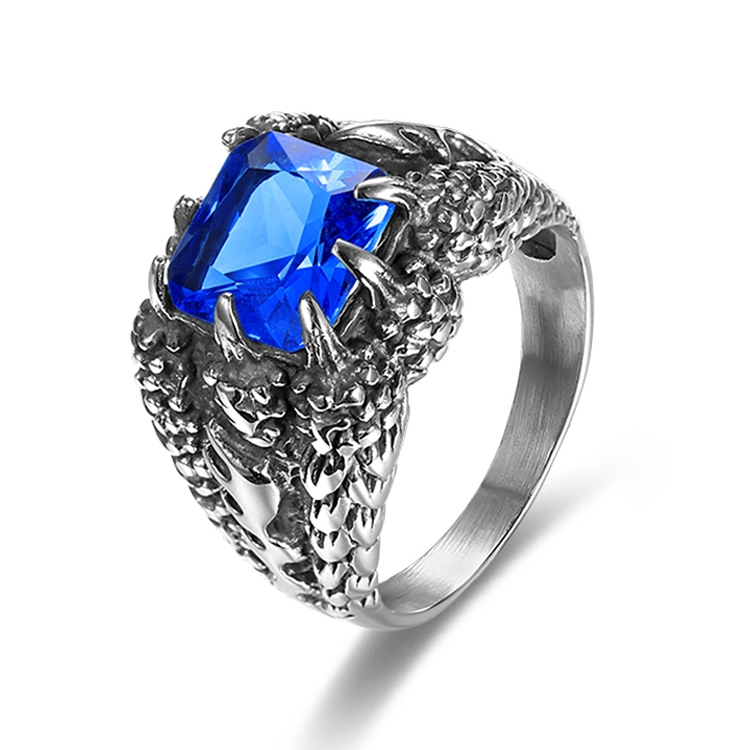 Populaire Grossiste bague diamant bleu homme-Acheter les meilleurs bague  ST02