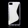 High quality S line wave Soft clear rubber silicon mobile phone case cover for BQ Aquaris M4.5