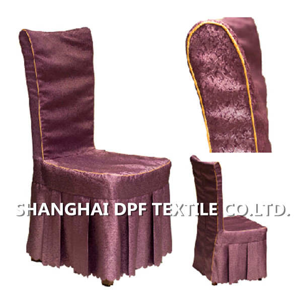 100% polyester hotel jacquard chair cover
