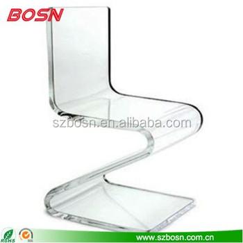 Stylish Furniture Transparent Acrylic Chairs Hot Bending Z Acrylic ...
