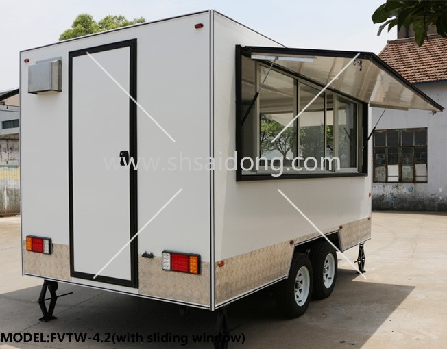 Sliding Window Mobile Food Truck Ice Cream Truck Snack