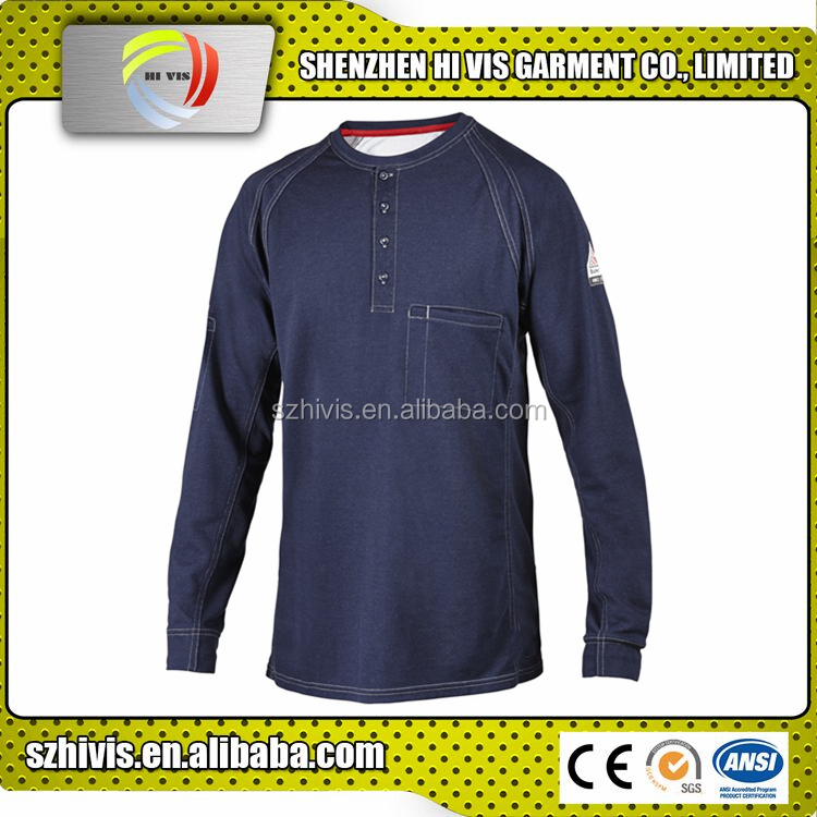 high quality custom long sleeve mens cotton henley shirt