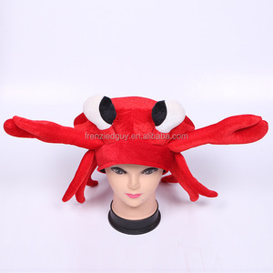 cheap funny animal crazy crab party hat FGH-1160