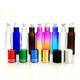 hot sale 3ml 5ml 8ml 10ml amber blue clear glass roller bottles for essential oil with stainless steel metal roller ball