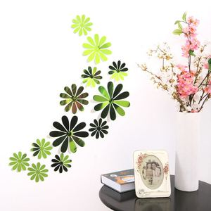 12 Pcs PVC Kids Room 3d Wall Stickers Free Removable Lucky Clover Adesivo De Parede Pegatinas De Pared For Kids Room Decoration