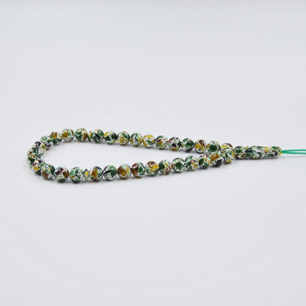 Indonesia blue amber rosary bead islamic prayer beads
