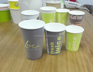 Heat insulated foam coffee paper cup with logo printing