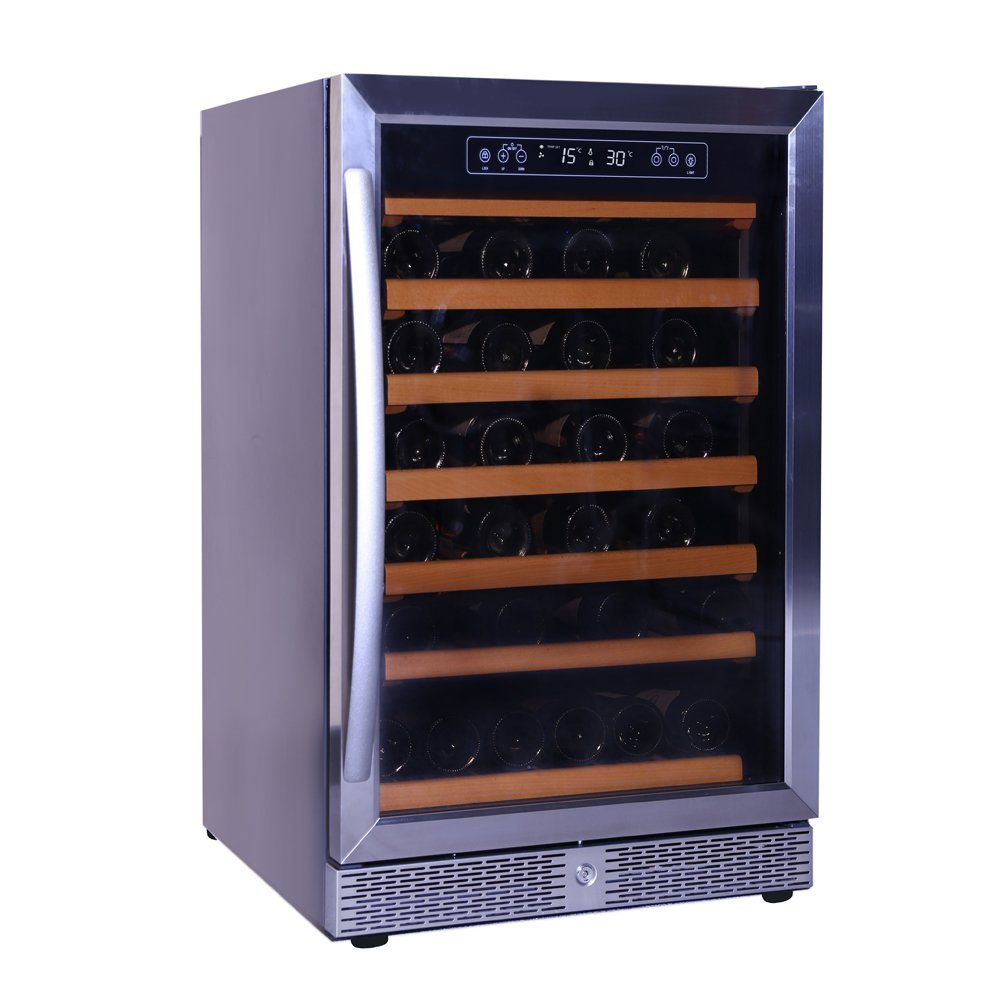 Smad 46 Bottle Freestanding Single Zone Touch Control Compressor Wine Cooler Chiller