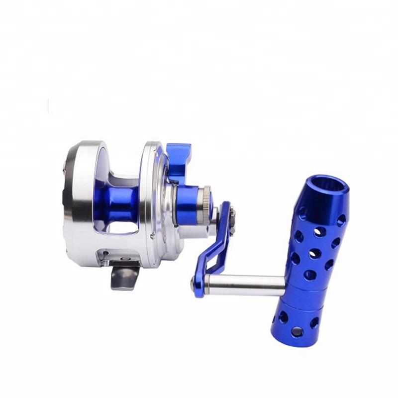 Topline Fishing trolling Reel DW500KC Sea Boat Jigging Reel, Silver/blue