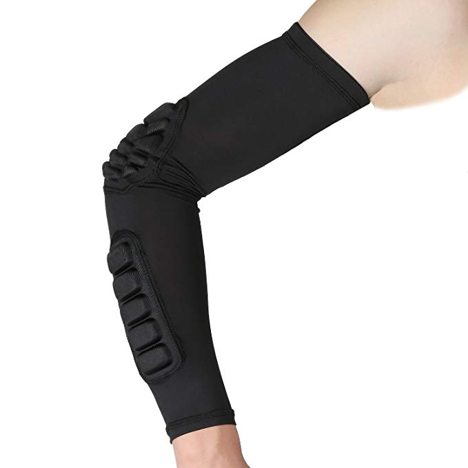 Elbow Sleeve Pad Compression Arm Guard Sleeve Elbow Support for Basketball Football Volleyball Baseball Softball Cycling Running фото