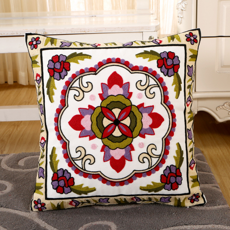wholesale living room decorate indian machine embroidery designs cushion cover