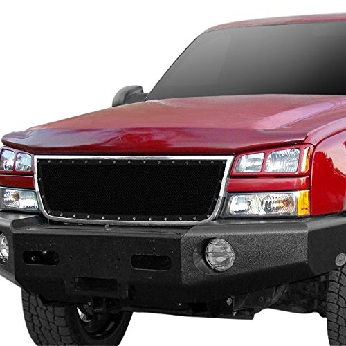 Fits 2006 Chevy Silverado 1500//05-06 2500//3500 Stainless Mesh Grille Insert