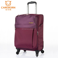 4 wheels trolley luggage aluminum handle carry on luggage