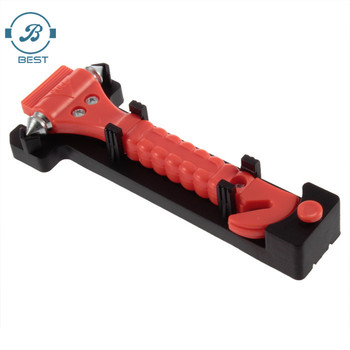 Car Safety Hammer Life Saving Escape Emergency Hammer Seat Belt Cutter Window Glass Breaker Car Rescue Red Hammer