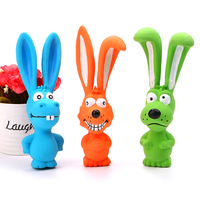 Latex rabbit Pet Chewing Funny Squeaky Toy Dog Toy with Sound