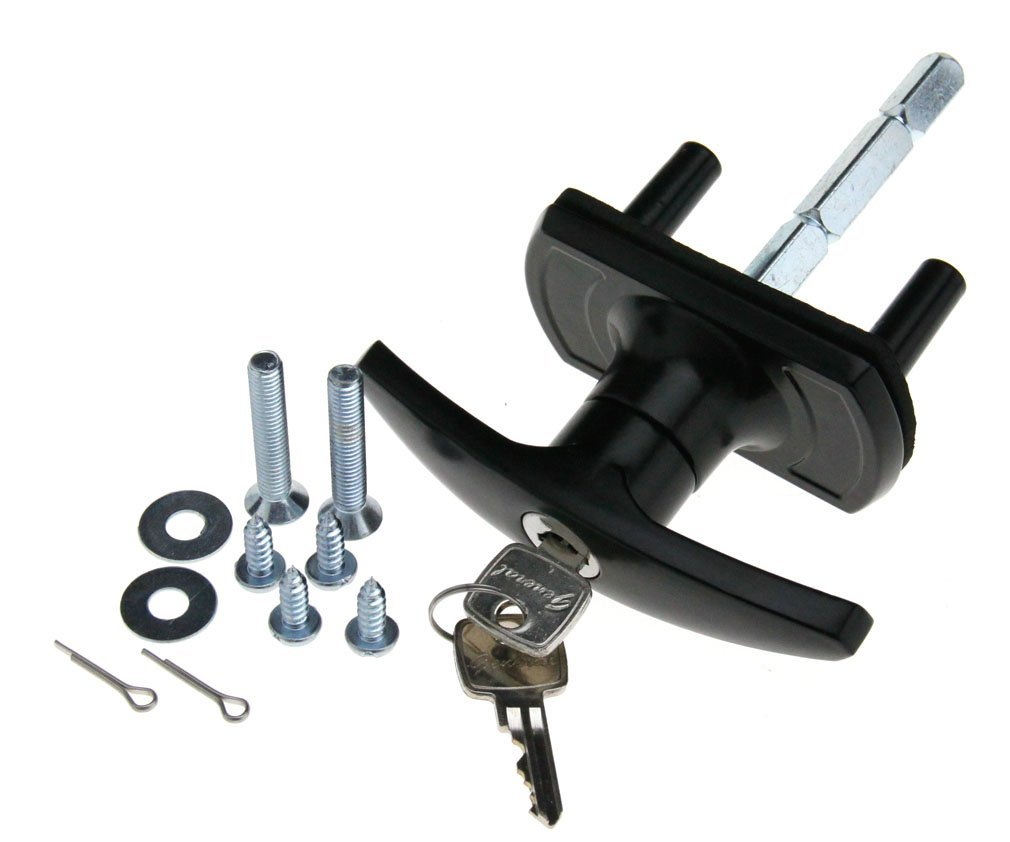 Buy T-Handle Garage Door Lock 35mm Spigot Long Shaft Merlin Doric ...