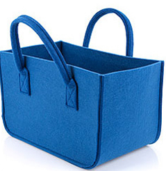 Eco-friendly Felt Storage Basket Blue Storage Container Customize Storage Tank