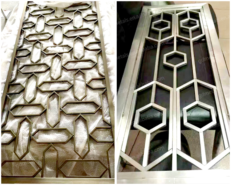 Custom decorative stainless steel laser cutting metal screen panel decorative engraving room divider.