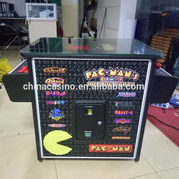 Pac-man cocktail table arcade machine with 2sides 2player