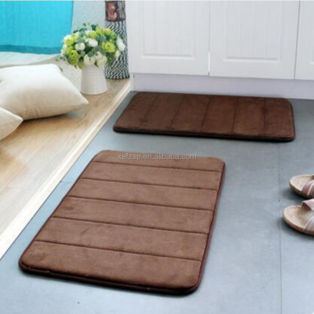memory foam absorbent bath rug without rubber backing