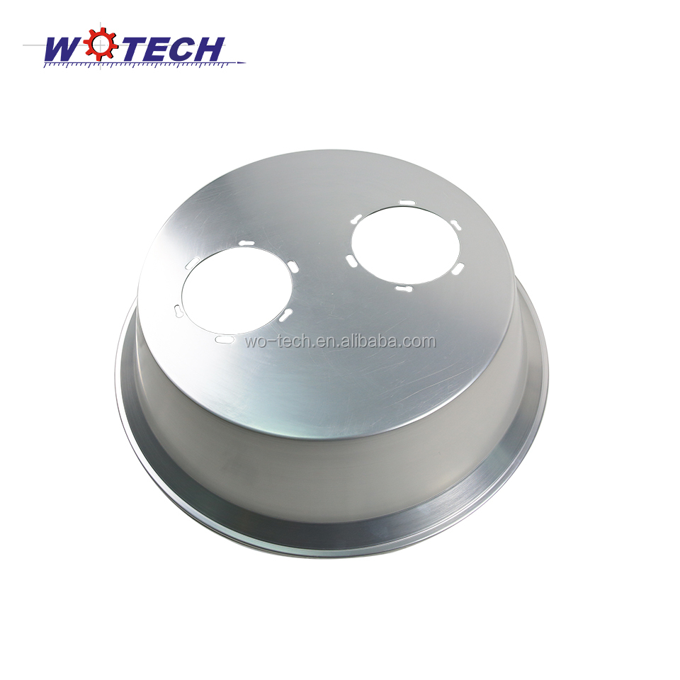 Round aluminum led flashlight reflector