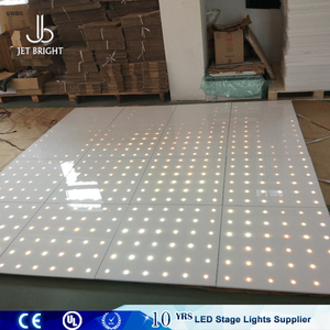 wholesale party rental equipment white marley mirror tiles twinkle light up dance floor in shenzhen