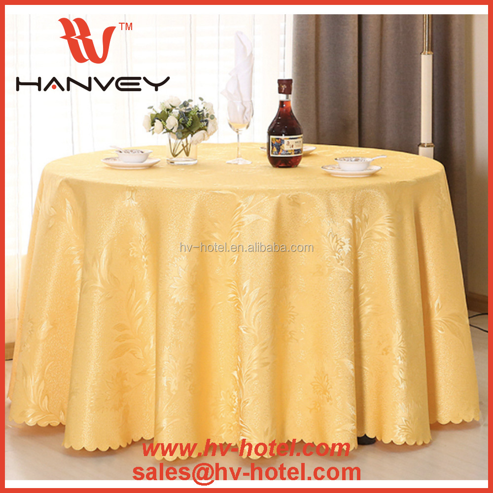 Factory price cheap sunflower handmade turkey 108 round disposable white tablecloth