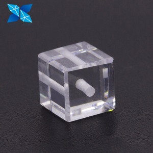DIY Drilled Loose Cubic Zirconia CZ material Crystal Cube Bead