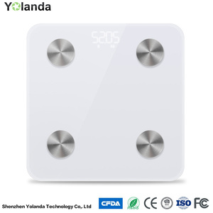 Fashionable wireless weight scale with bluetooth function measuring body fat smart scale CS20M Yolanda