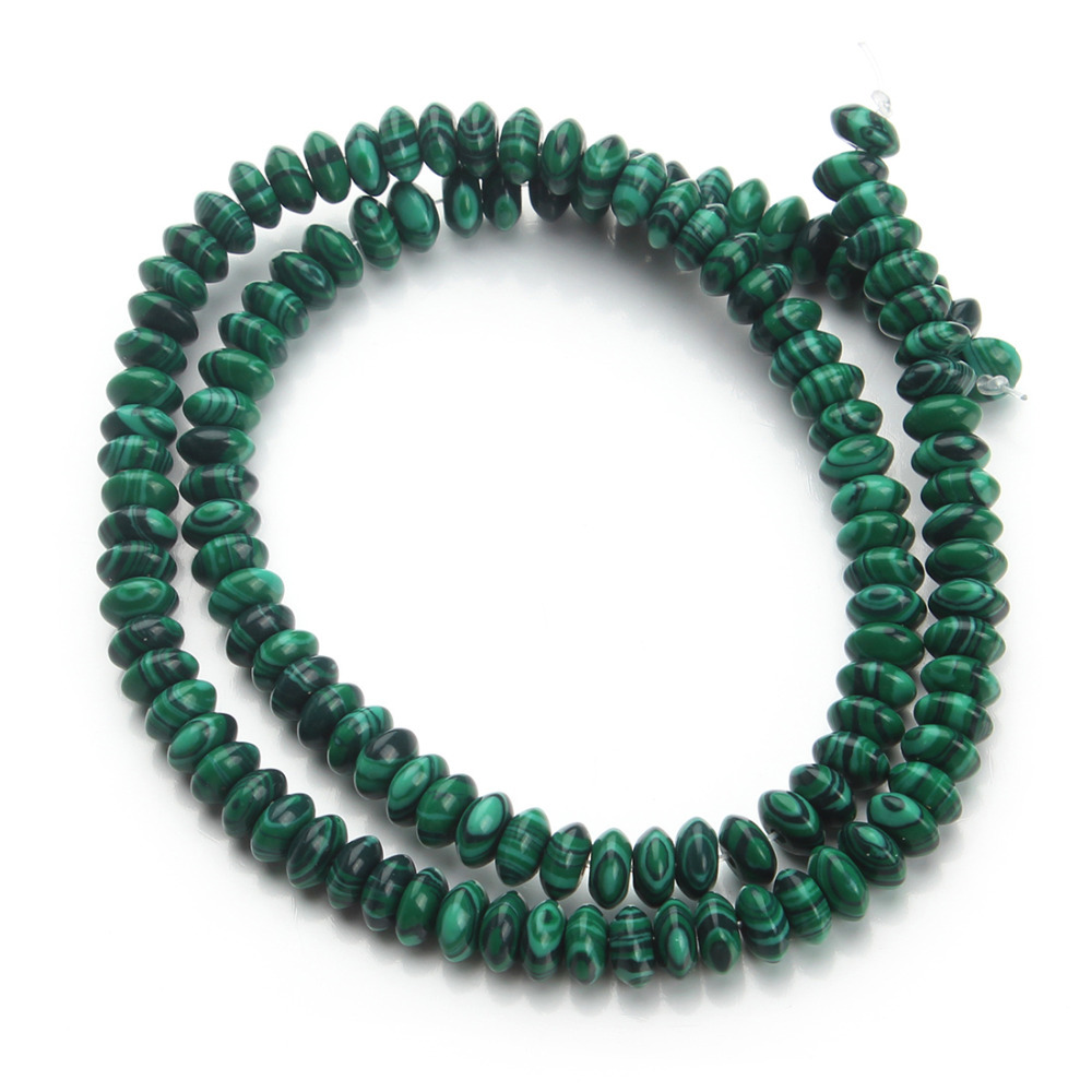 malachite natural loose spacer stone beads 3*6mm 130pcs/lot diy jewelry material F2367